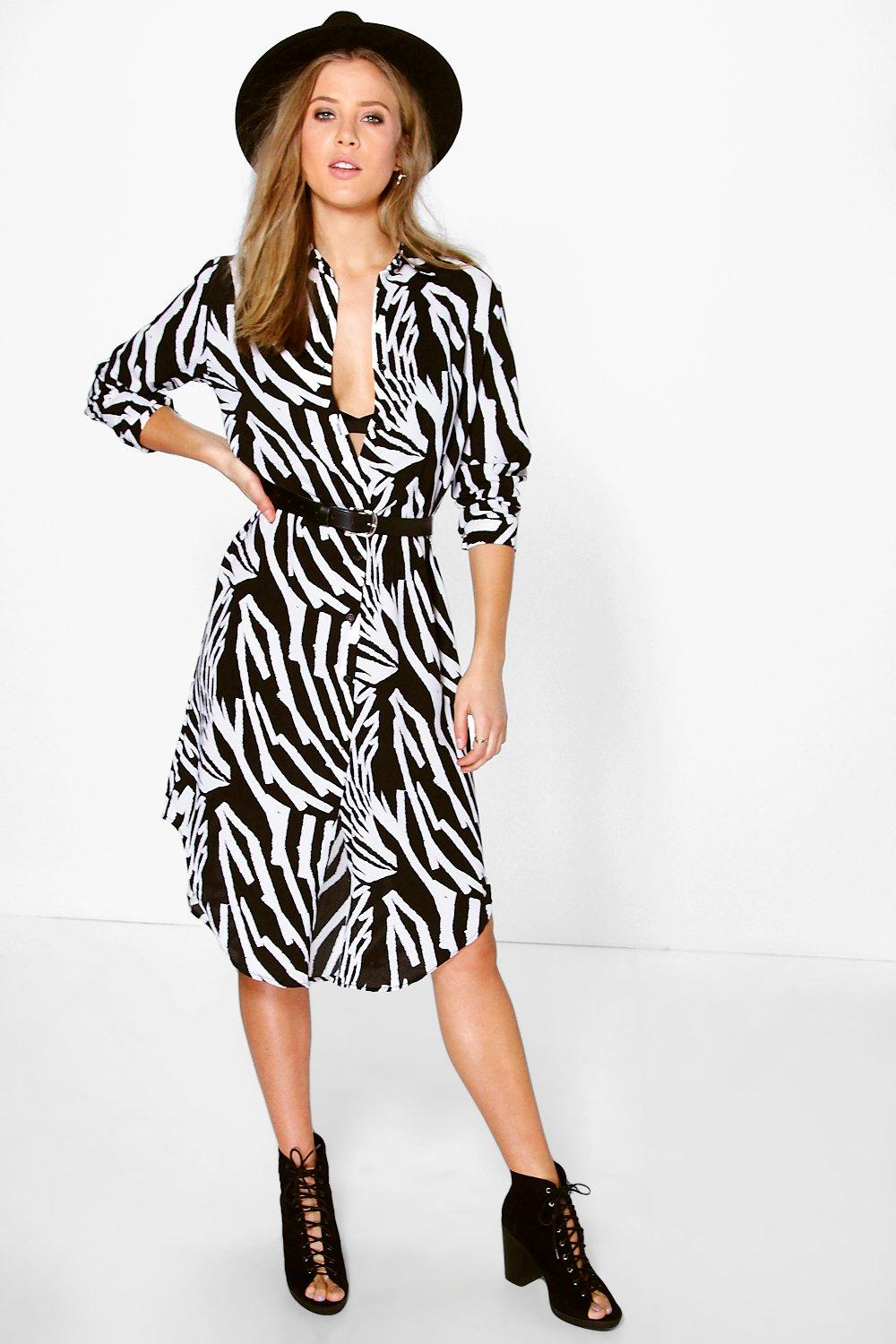 Dearbhla Mono Print Shirt Dress