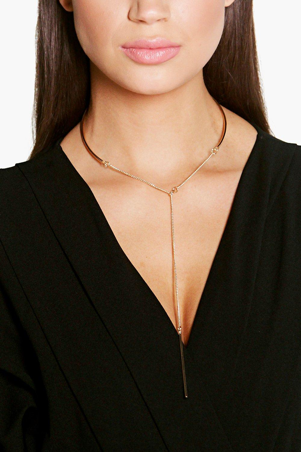 Jenny Simple Plunge Necklace