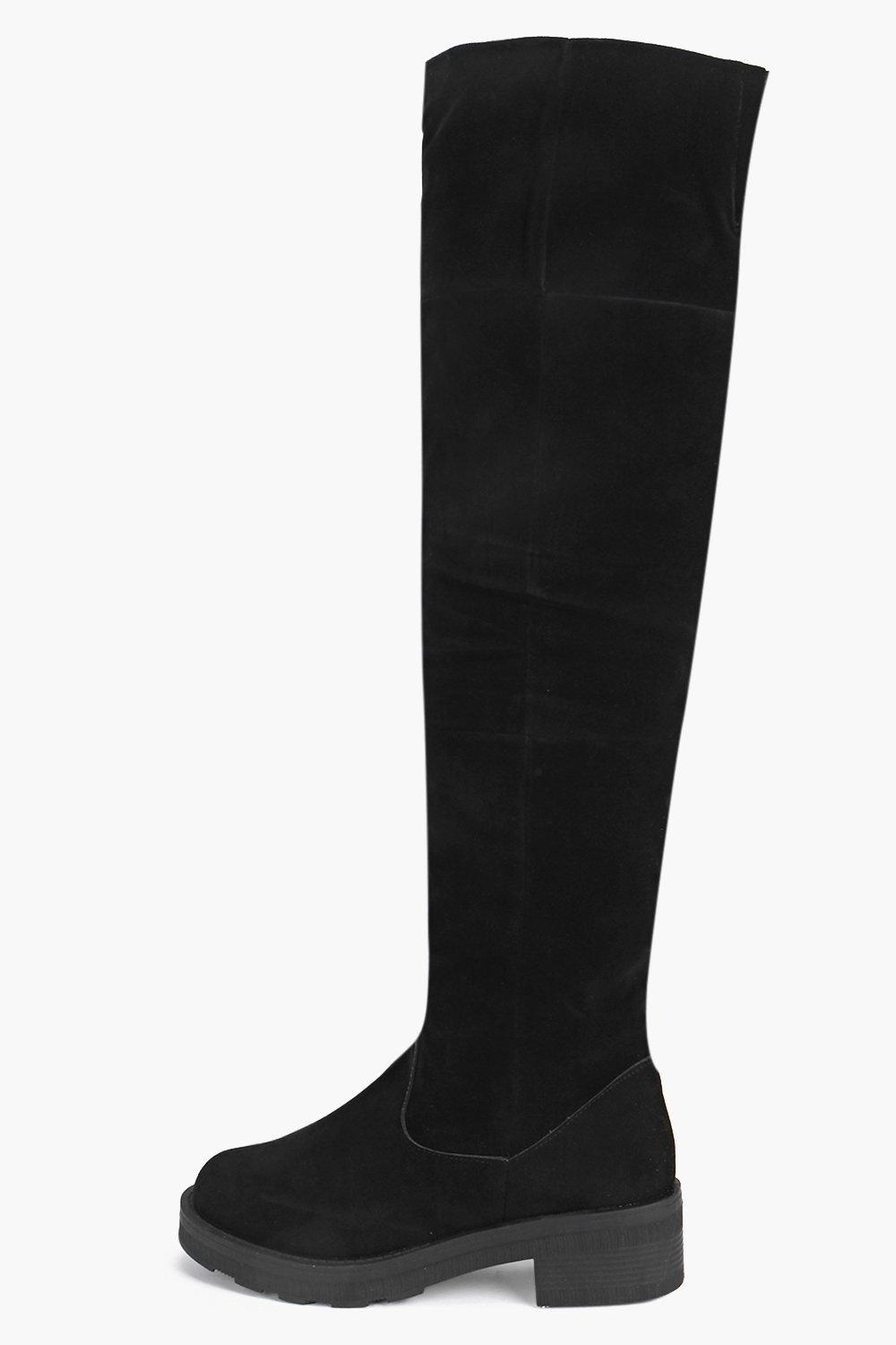 Demi Cleated Sole Over The Knee Boot