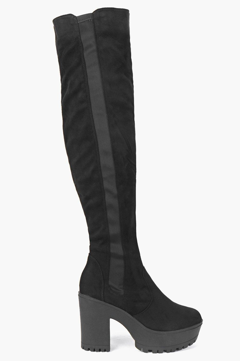 Rosa Extreme Cleated Over the Knee Boot