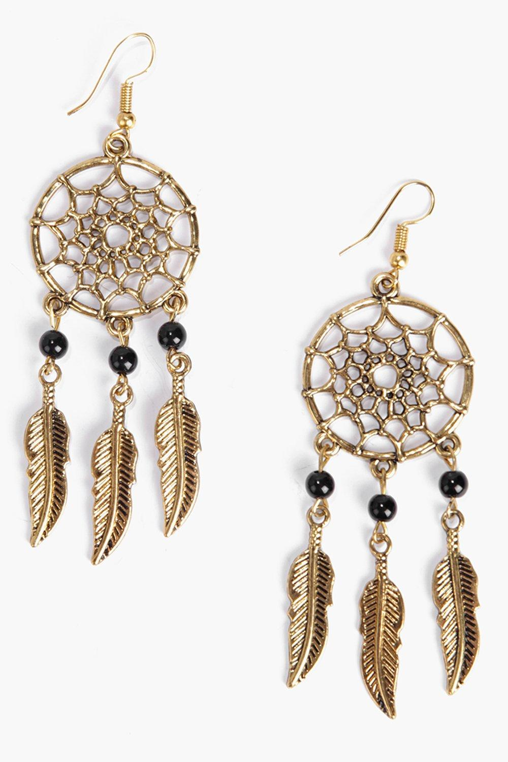 Amber Dreamcatcher Earrings
