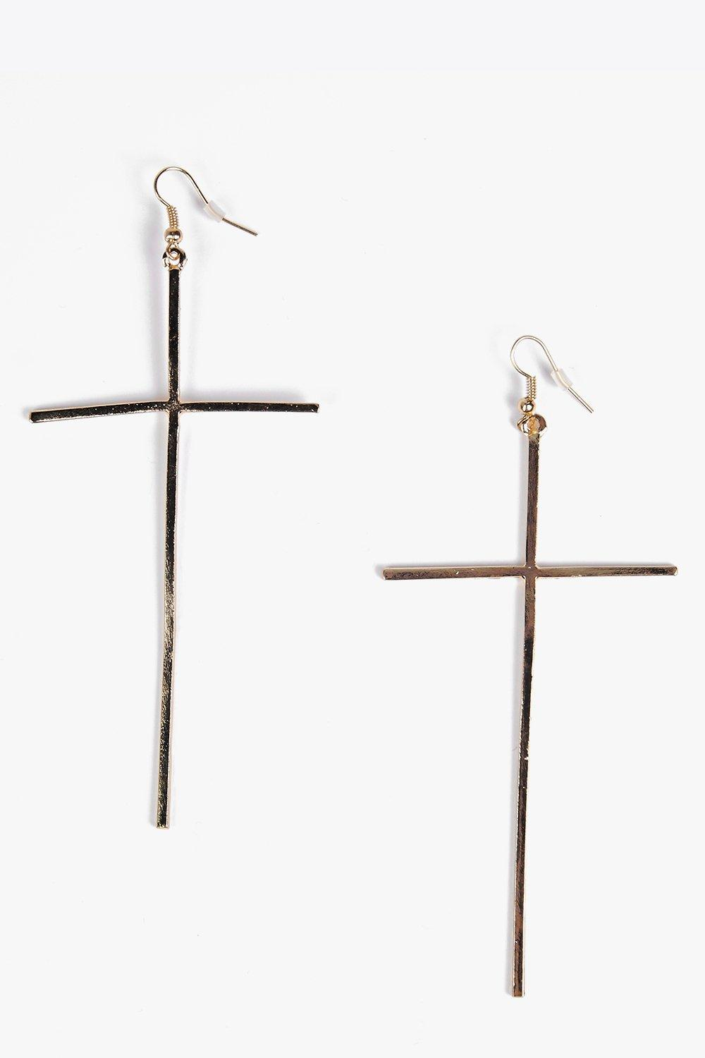 Amy Oversized Cross Earrings