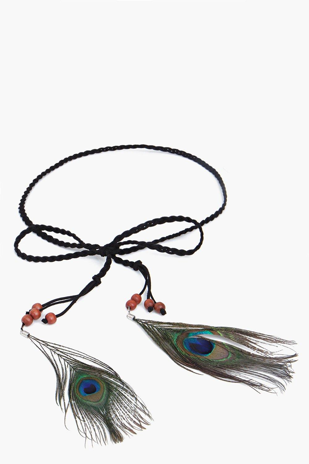 Ivy Peacock Feather Festival Belt