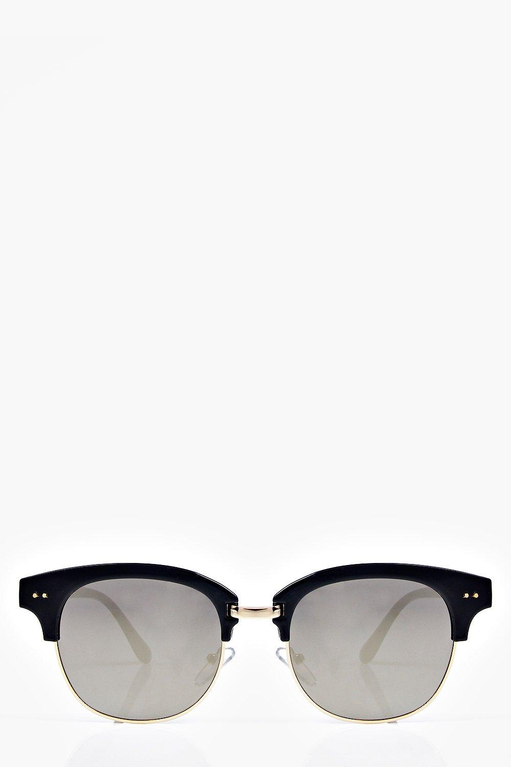 Eva Mirrored Half Frame Wayfarer Fashion Glasses