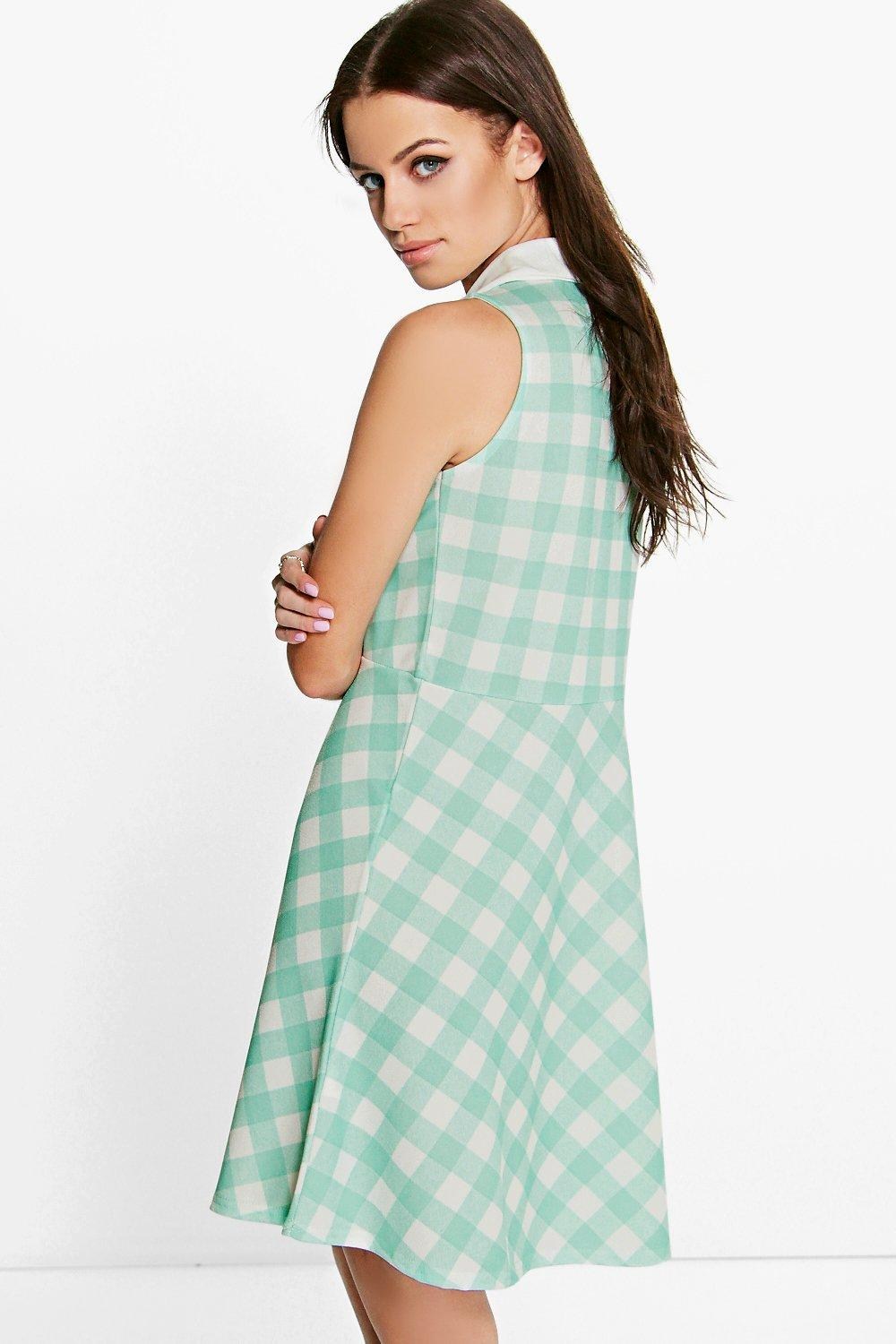 Leanne Sleeveless Polo Skater Dress