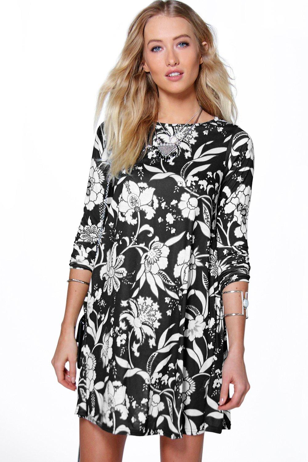 Ava Floral Swing Dress