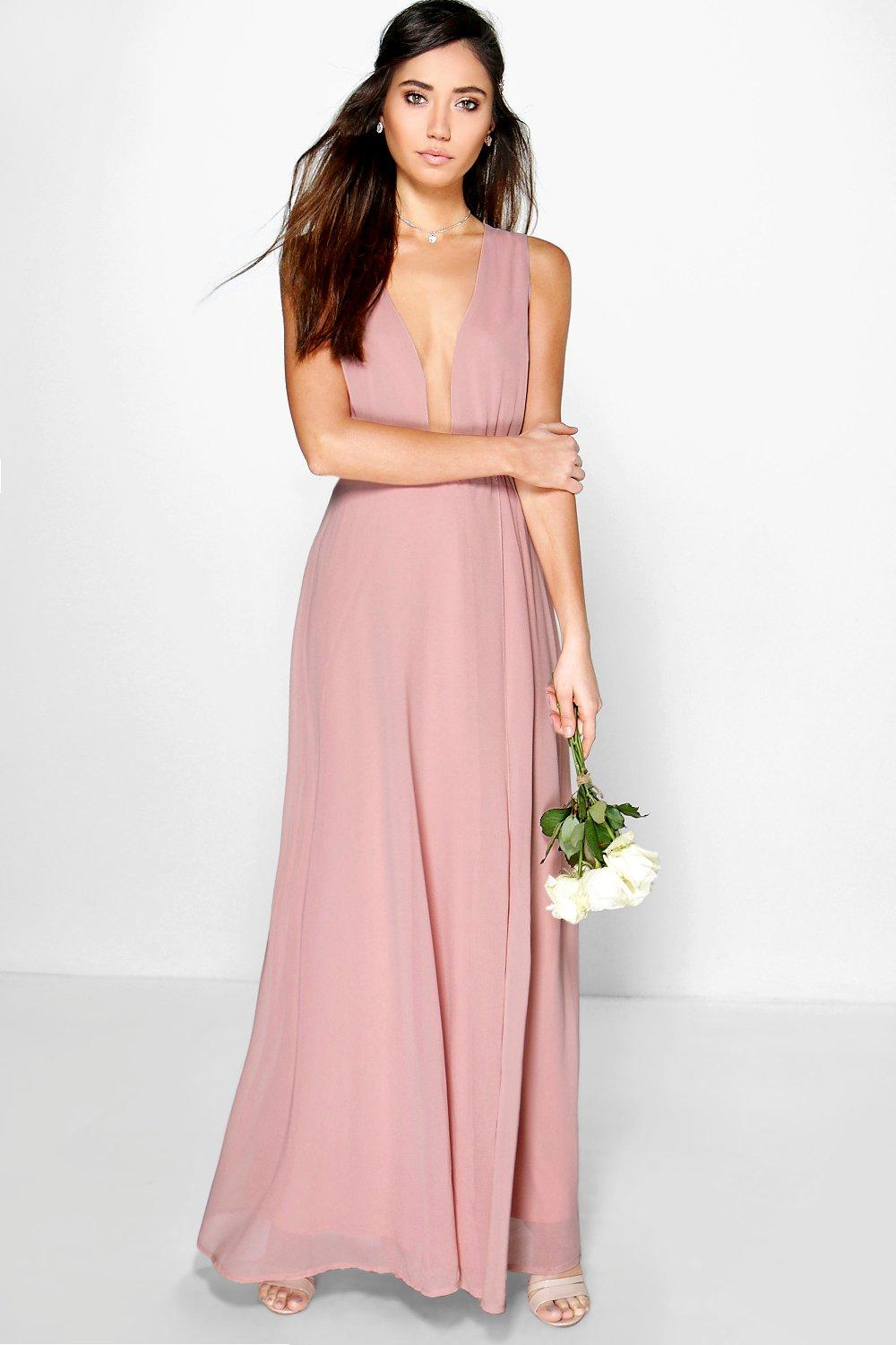 Eloise Wrap Front Chiffon Maxi Dress at boohoo.com