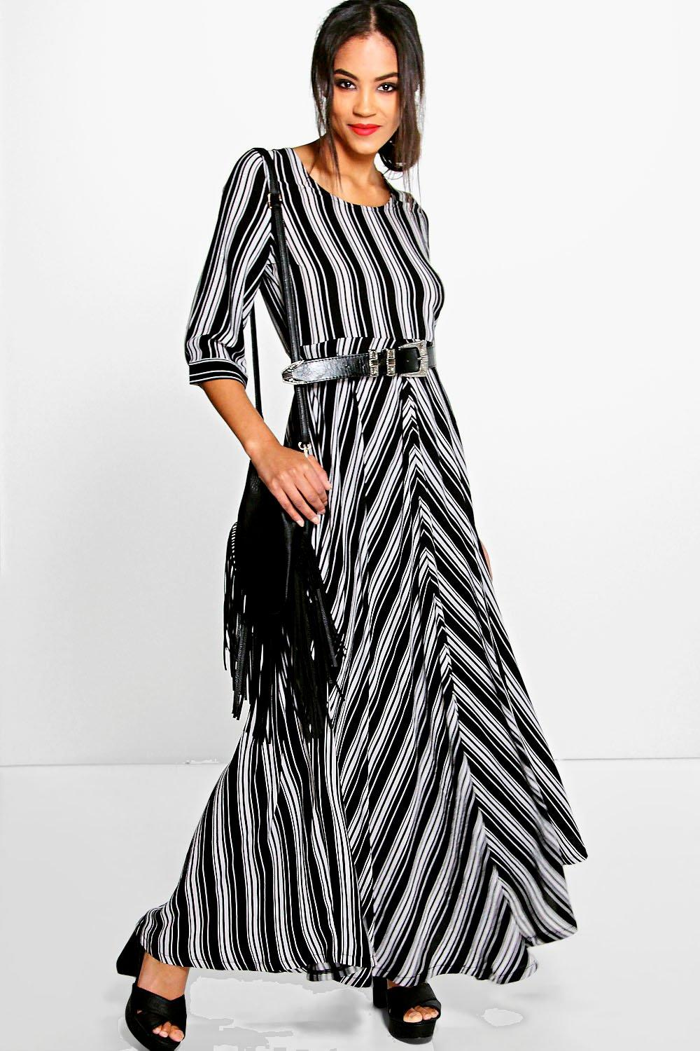 Alice Deconstructed Stripe Maxi Dress