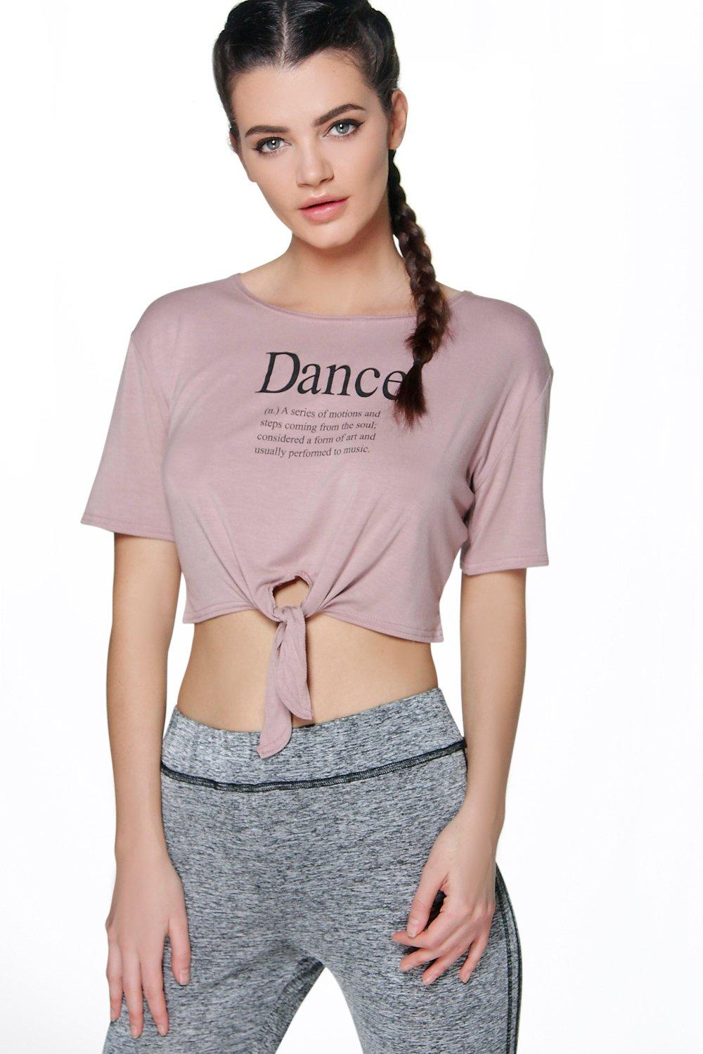 Lucia Dance Tie Front TShirt