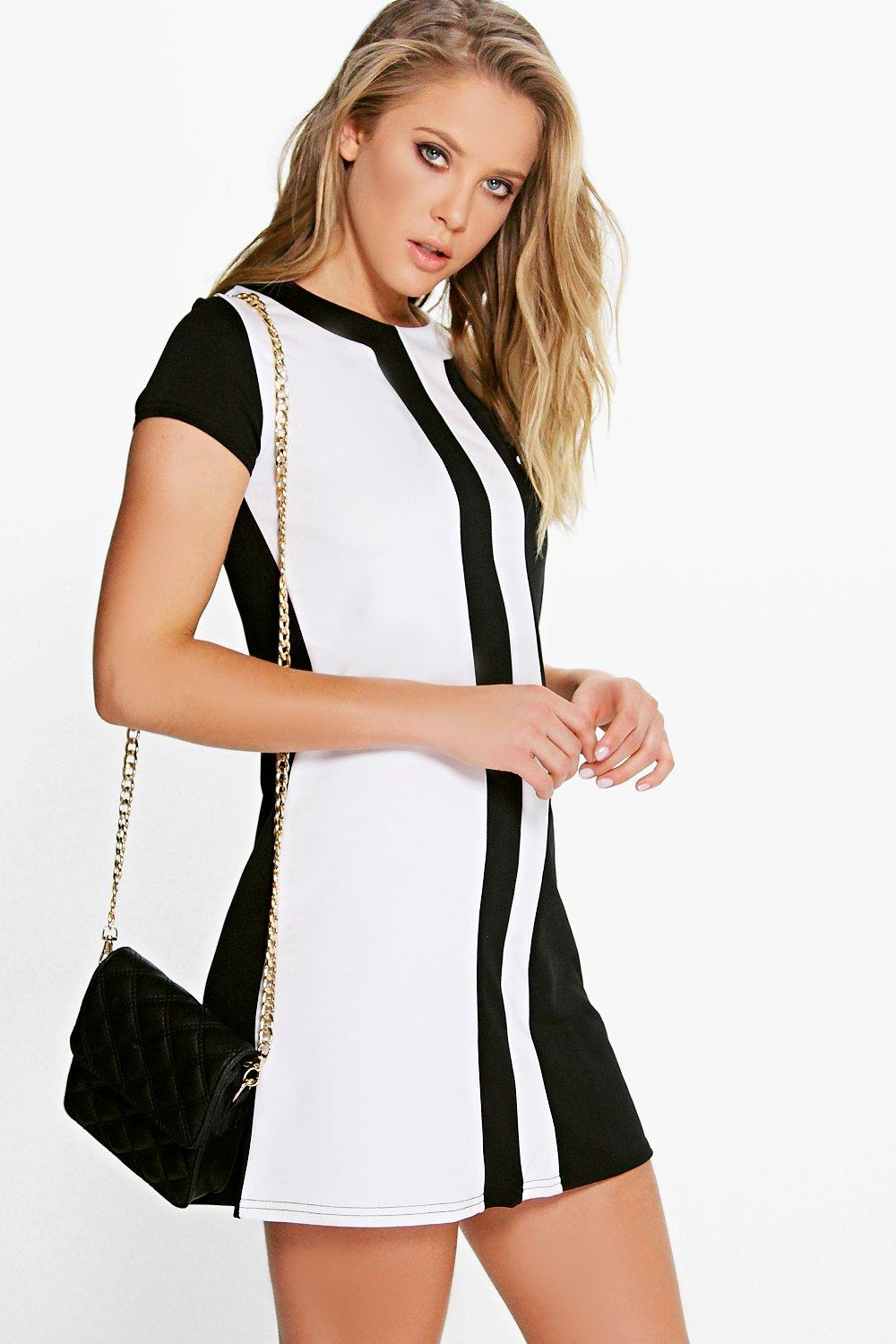 Daisy Mono Cap Sleeve Shift Dress