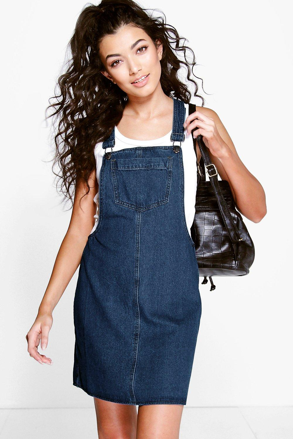Ella Pinafore Style Denim Dress