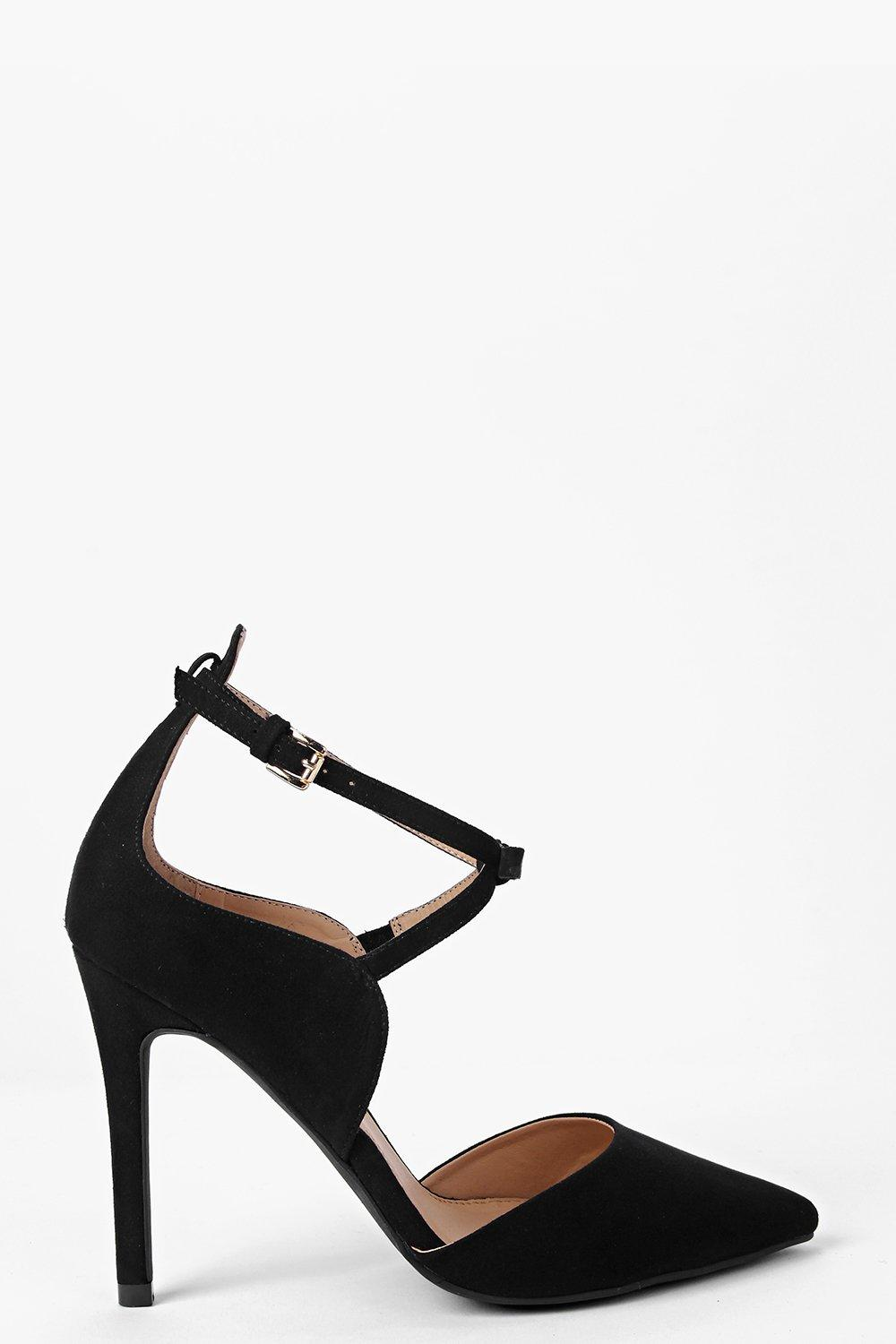 Nadia Pointed Cross Strap Court