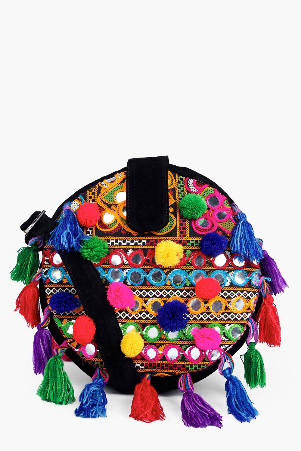 Boutique Emma Pom Pom Cross Body Bag