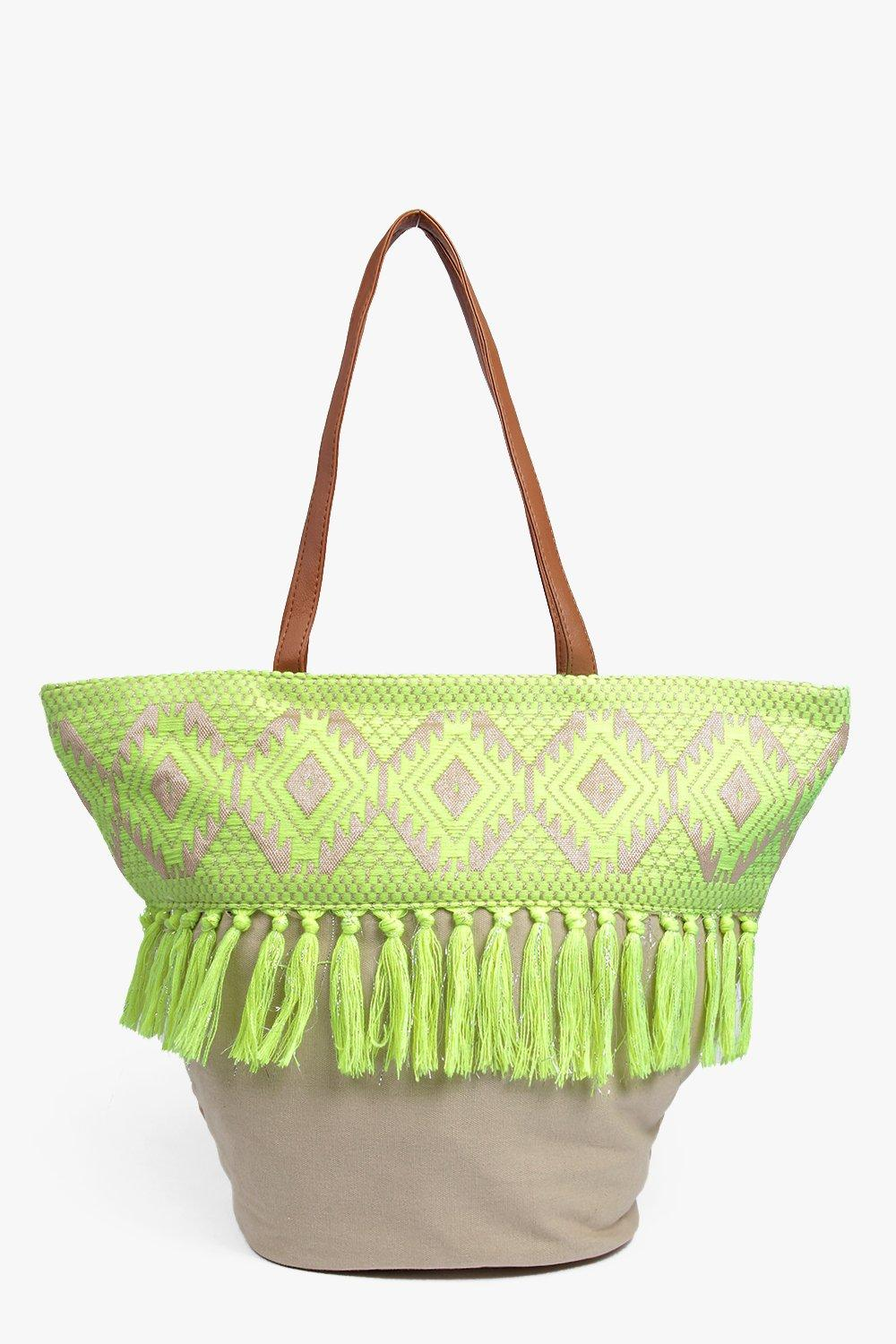 Lucy Aztec Tassel Shopper Bag