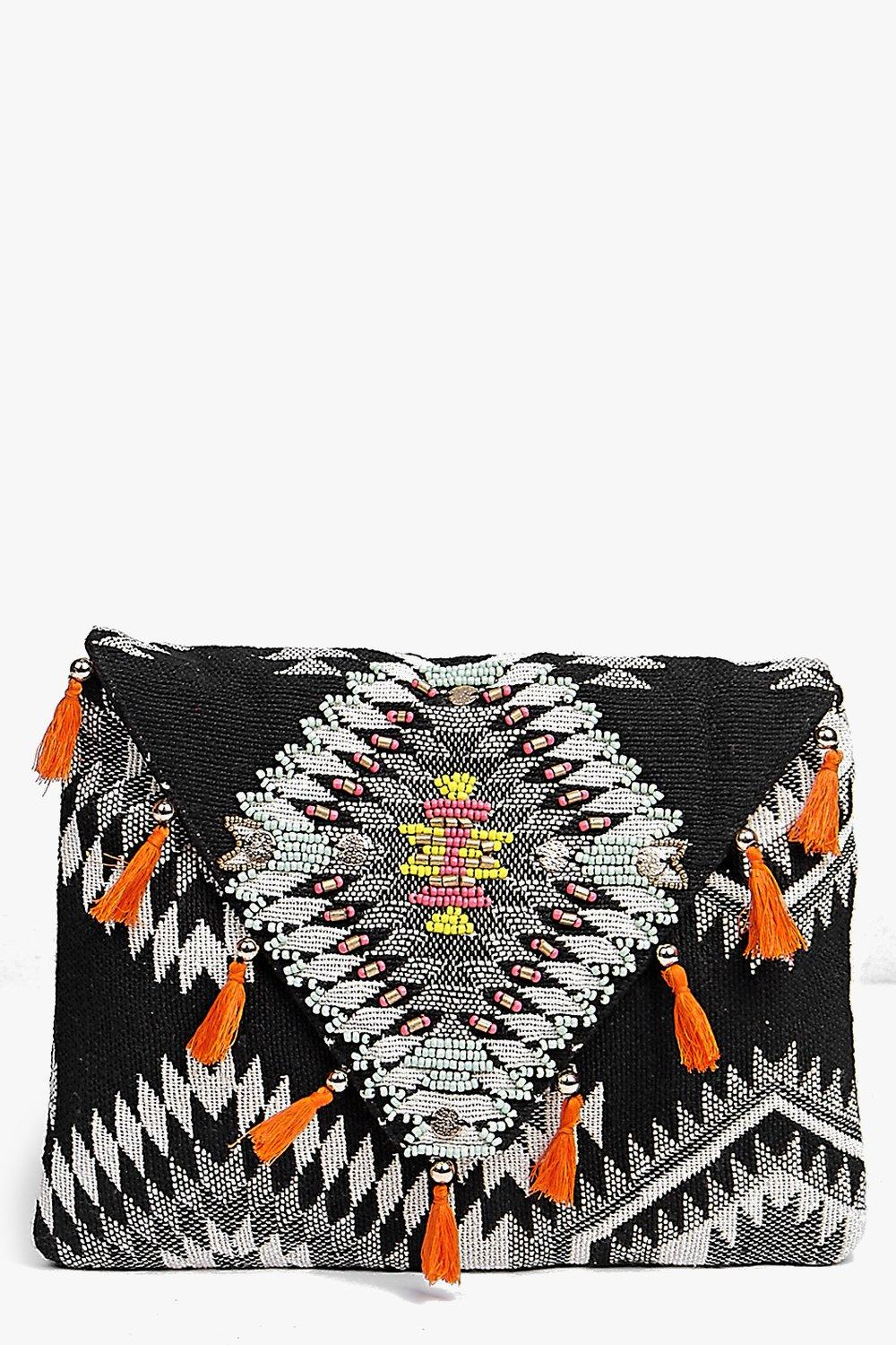Taylor Tassel Edge Clutch Bag