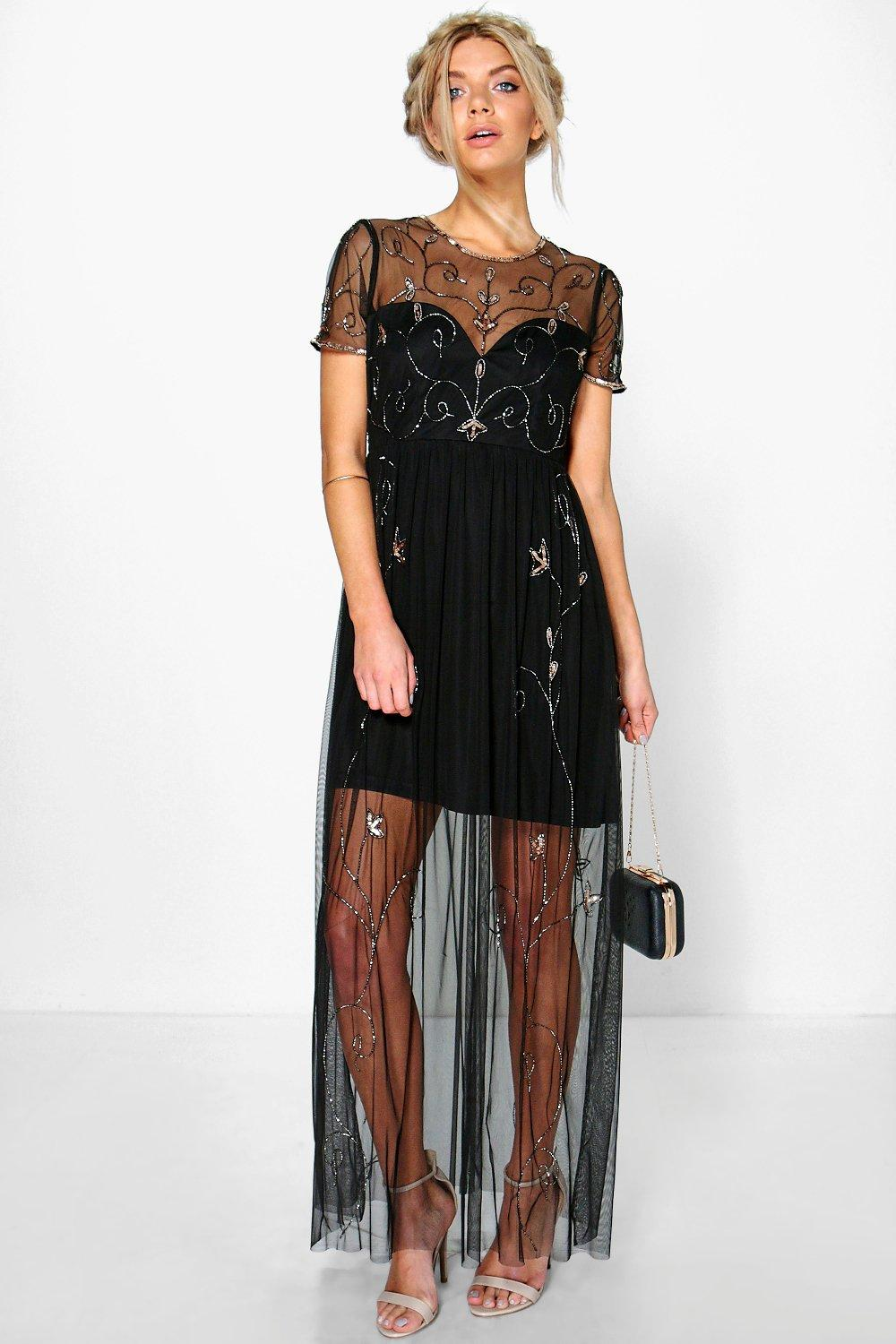 Corine Boutique Embellished Maxi Dress at boohoo.com