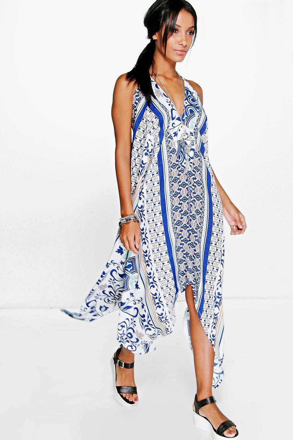Denise Mix Print Hanky Hem Dress