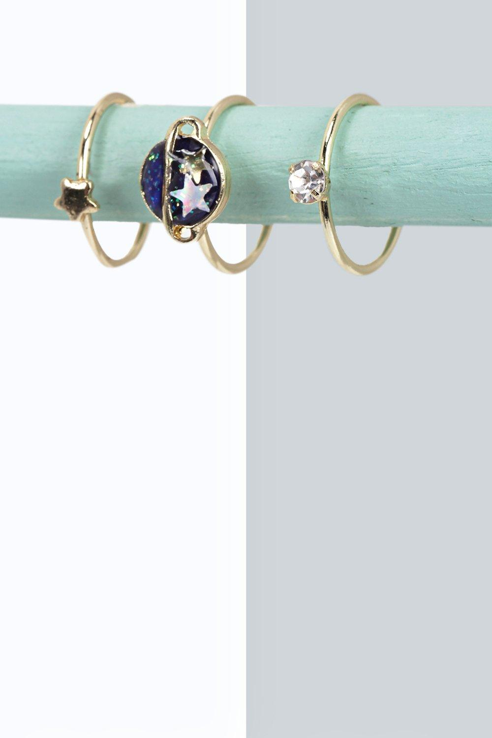 Paige Star And Planet Ring Set