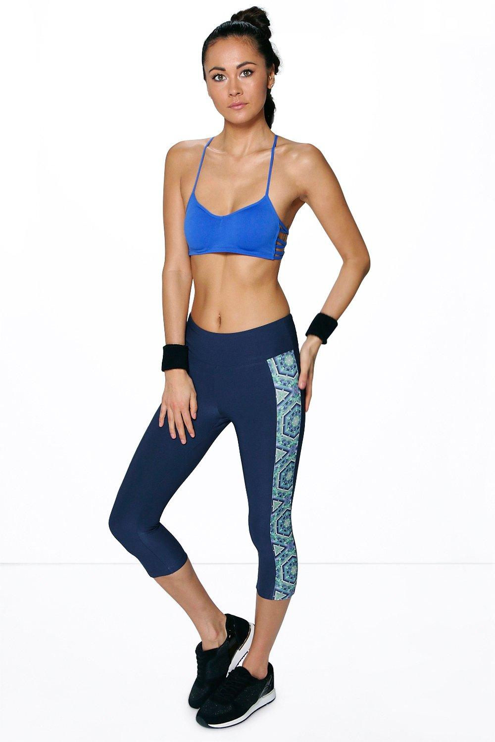 Abbie Fit Breathable 3/4 Length Printed Side Legging