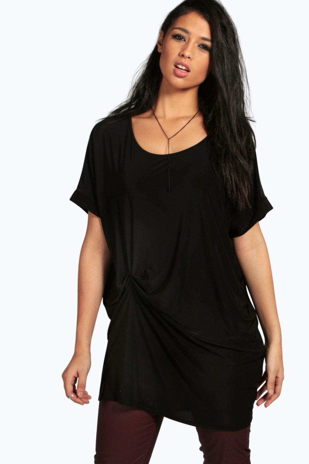 Skye Slinky Pleat Drape Oversized Tunic