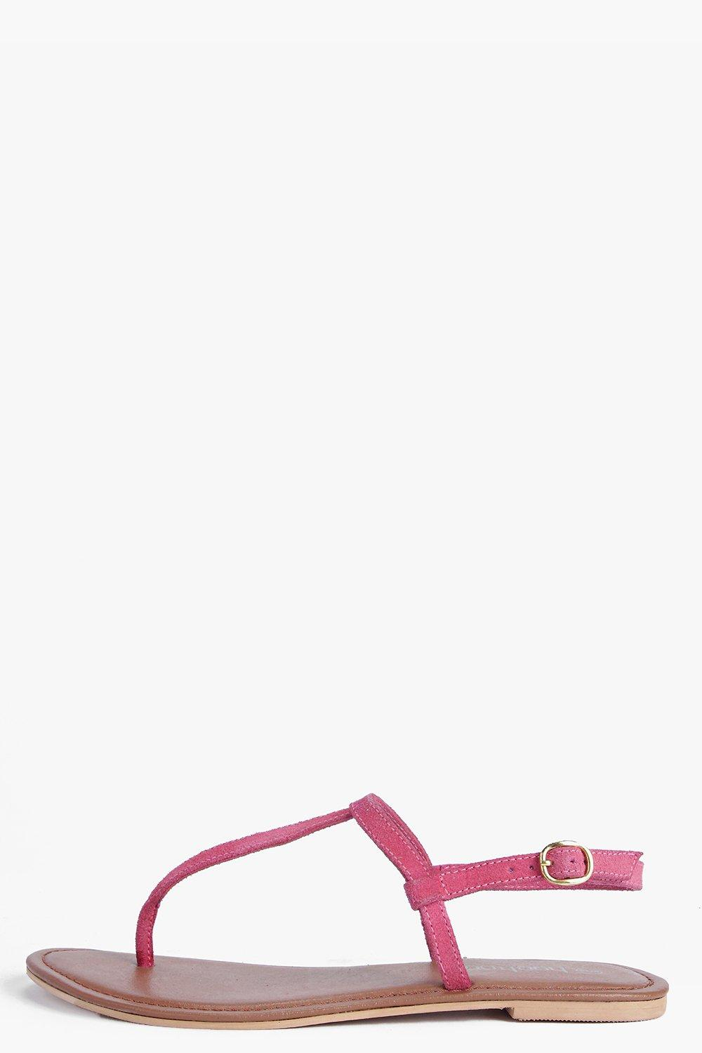Boutique Layla Plain Toe Thong Suede Sandal