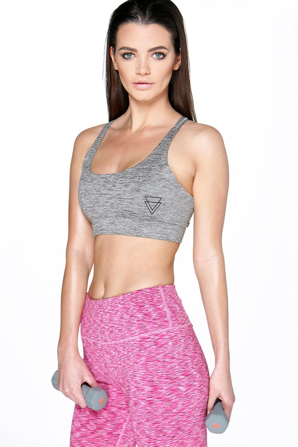 Aleena Fit Performance Space Dye Sports Crop