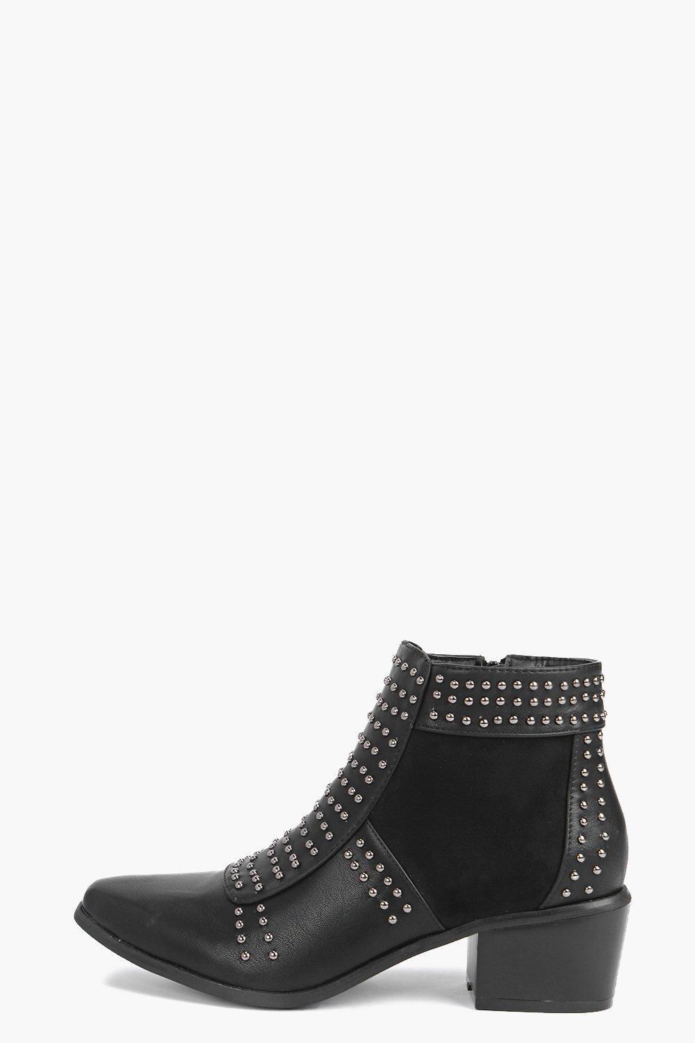 Lydia Studded Pistol Boot
