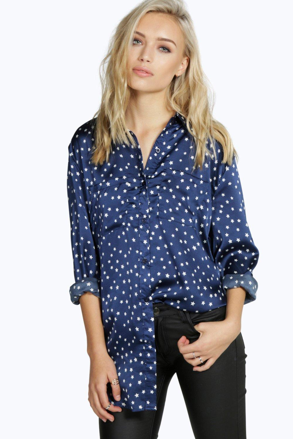 Molly Silky Star Print Shirt
