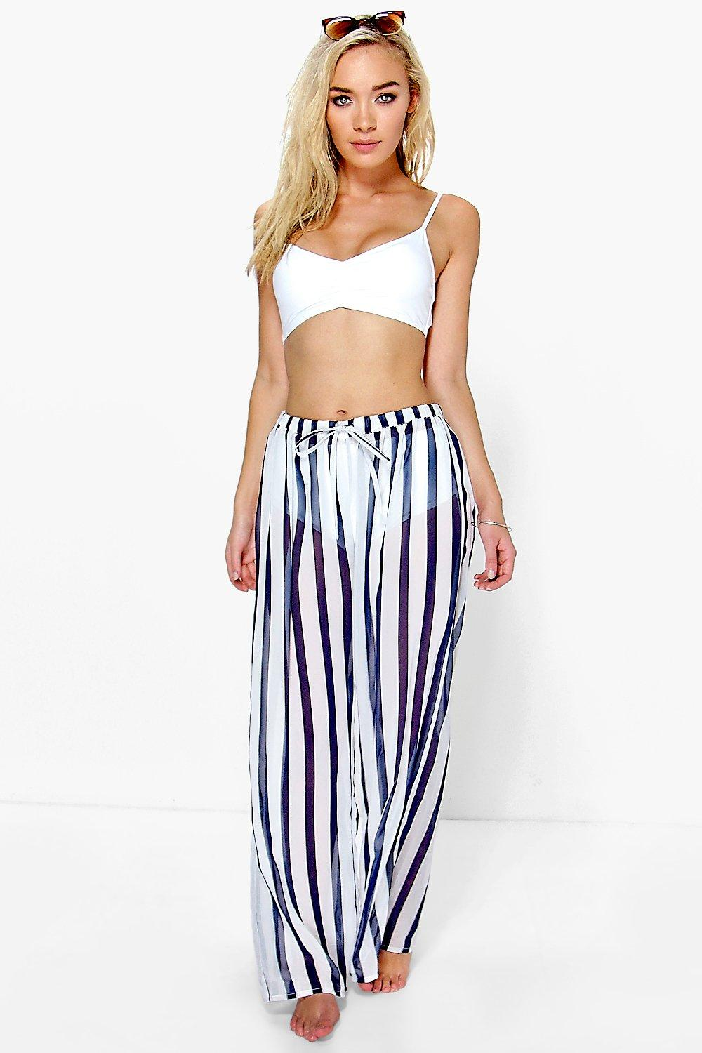 Rosella Striped Wide Leg Trouser