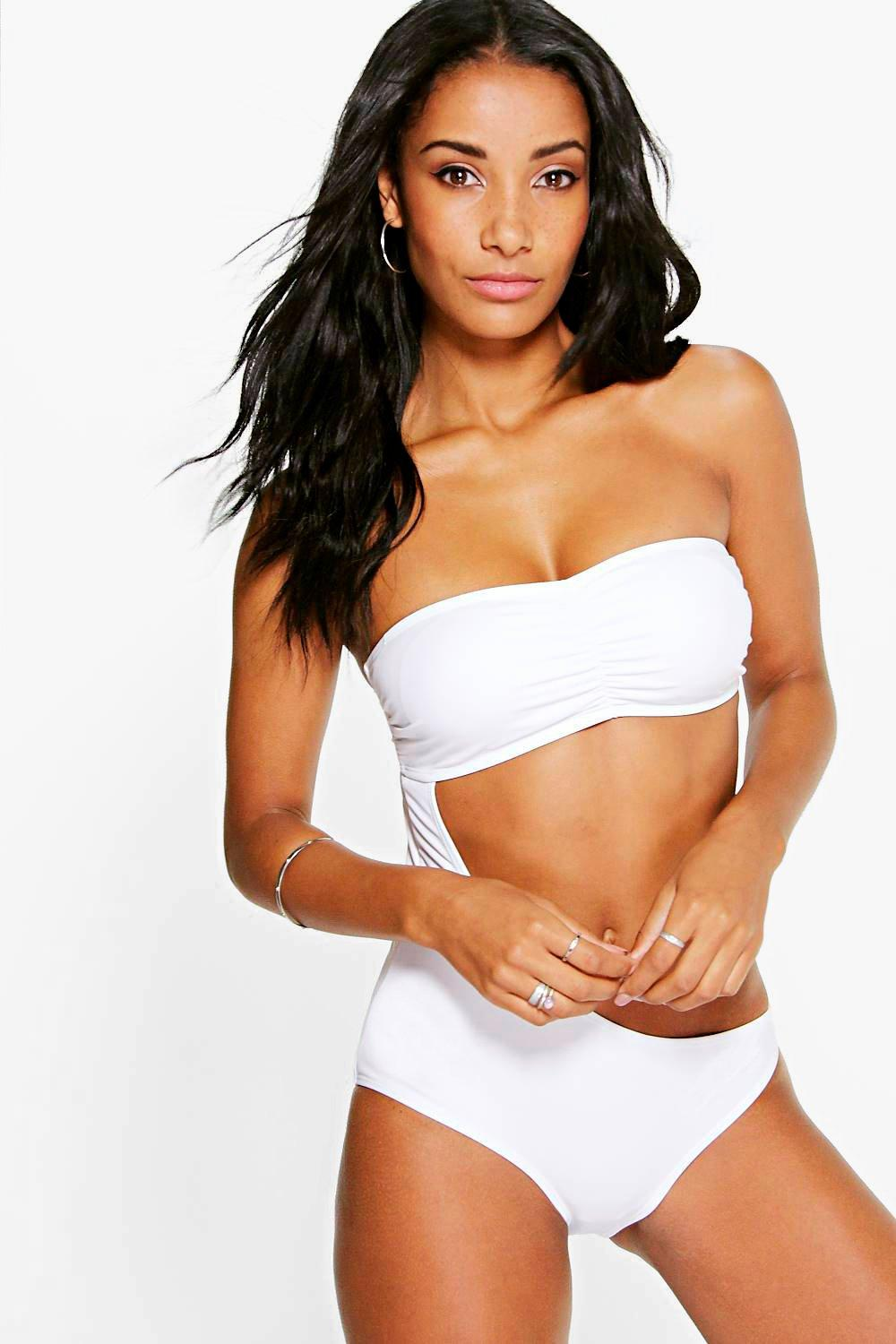 Hungary Cut Out Bandeau Swimsuit