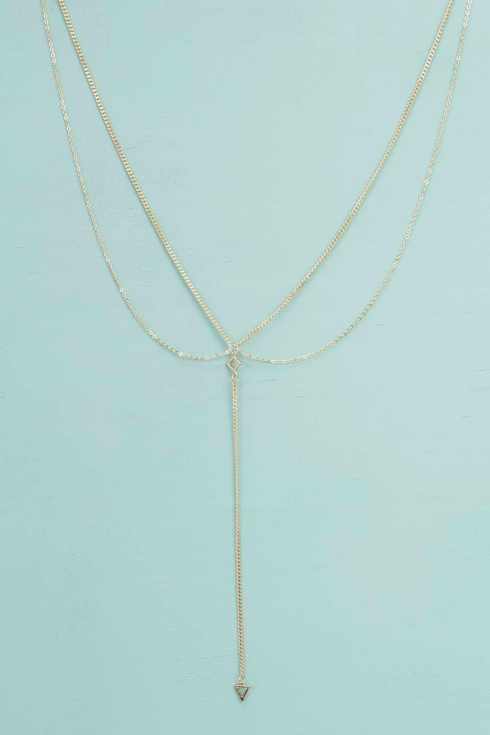 Julia Triangle Detail Plunge Necklace