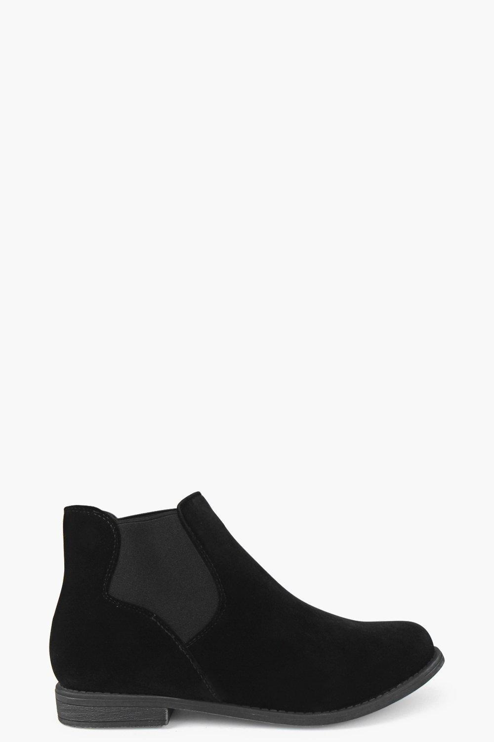 Lily Flat Suedette Chelsea Boot
