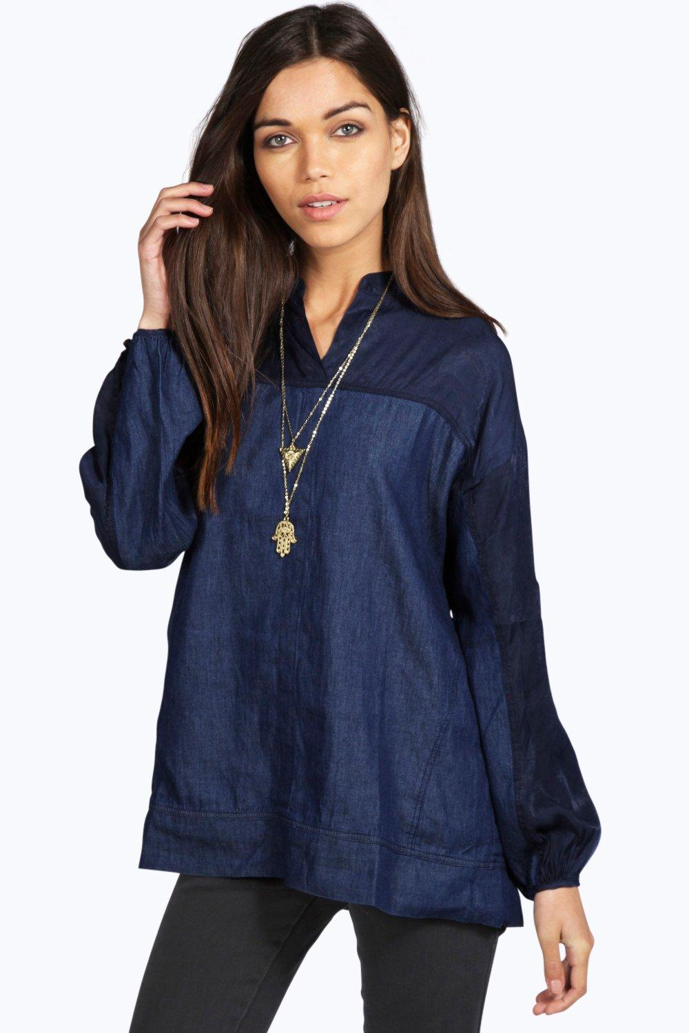 Louise Contrast Denim Shirt