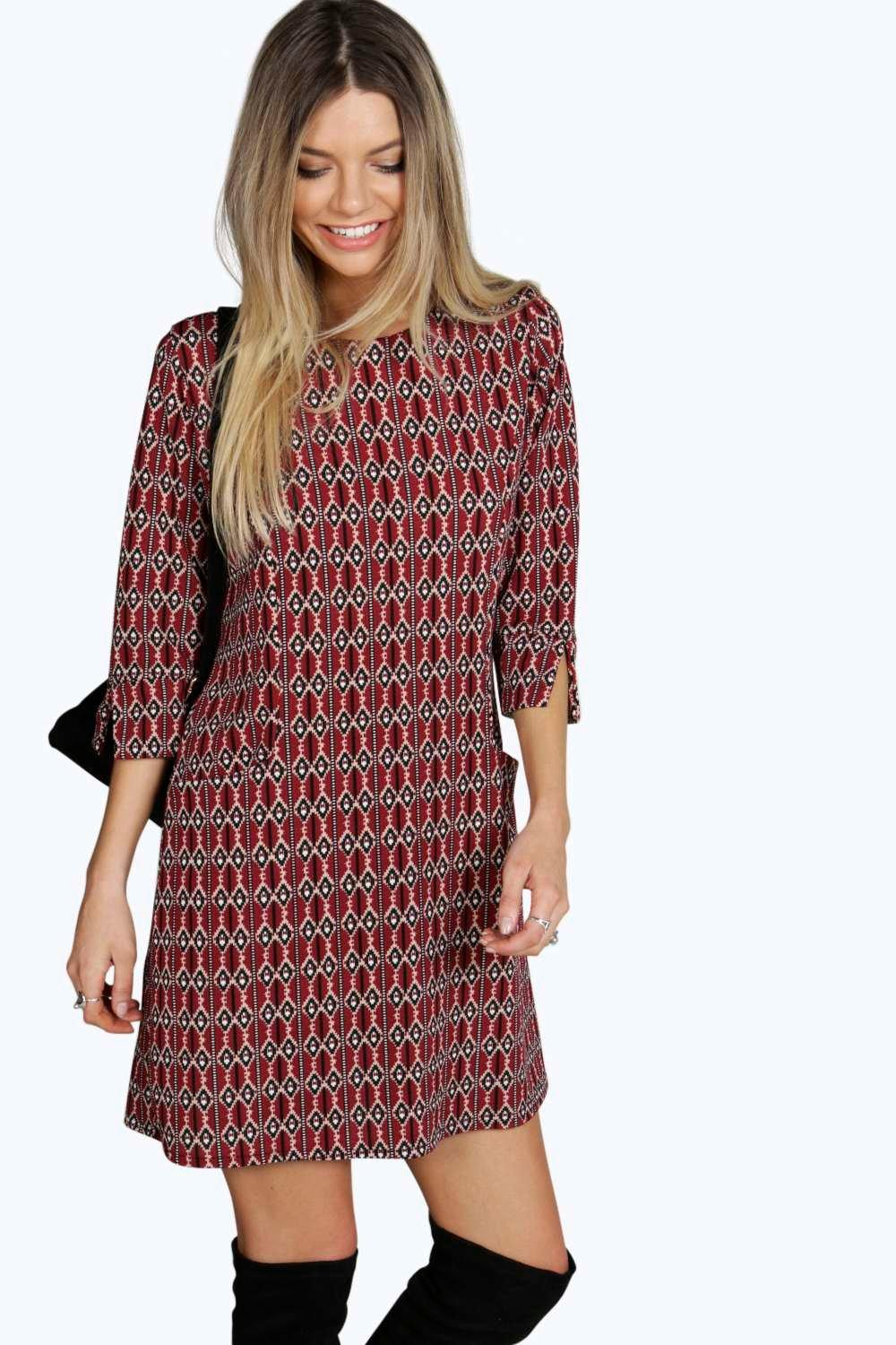 Aisha Pocket Printed Shift Dress