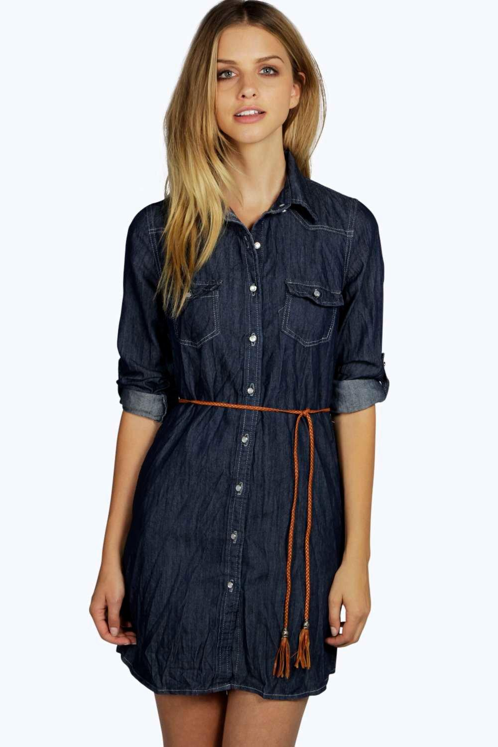Jasmine Denim Button Through Dress