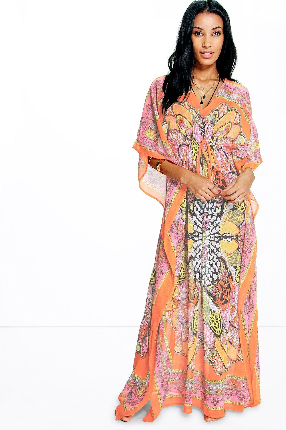 Neve Butterfly Print Maxi Beach Cover Up