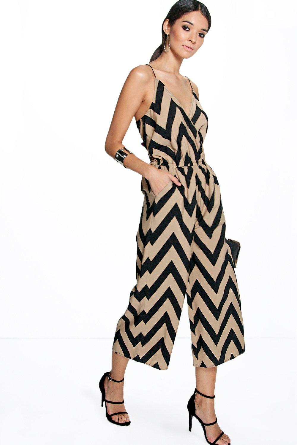 Cate Zig Zag Print Cami Jumpsuit