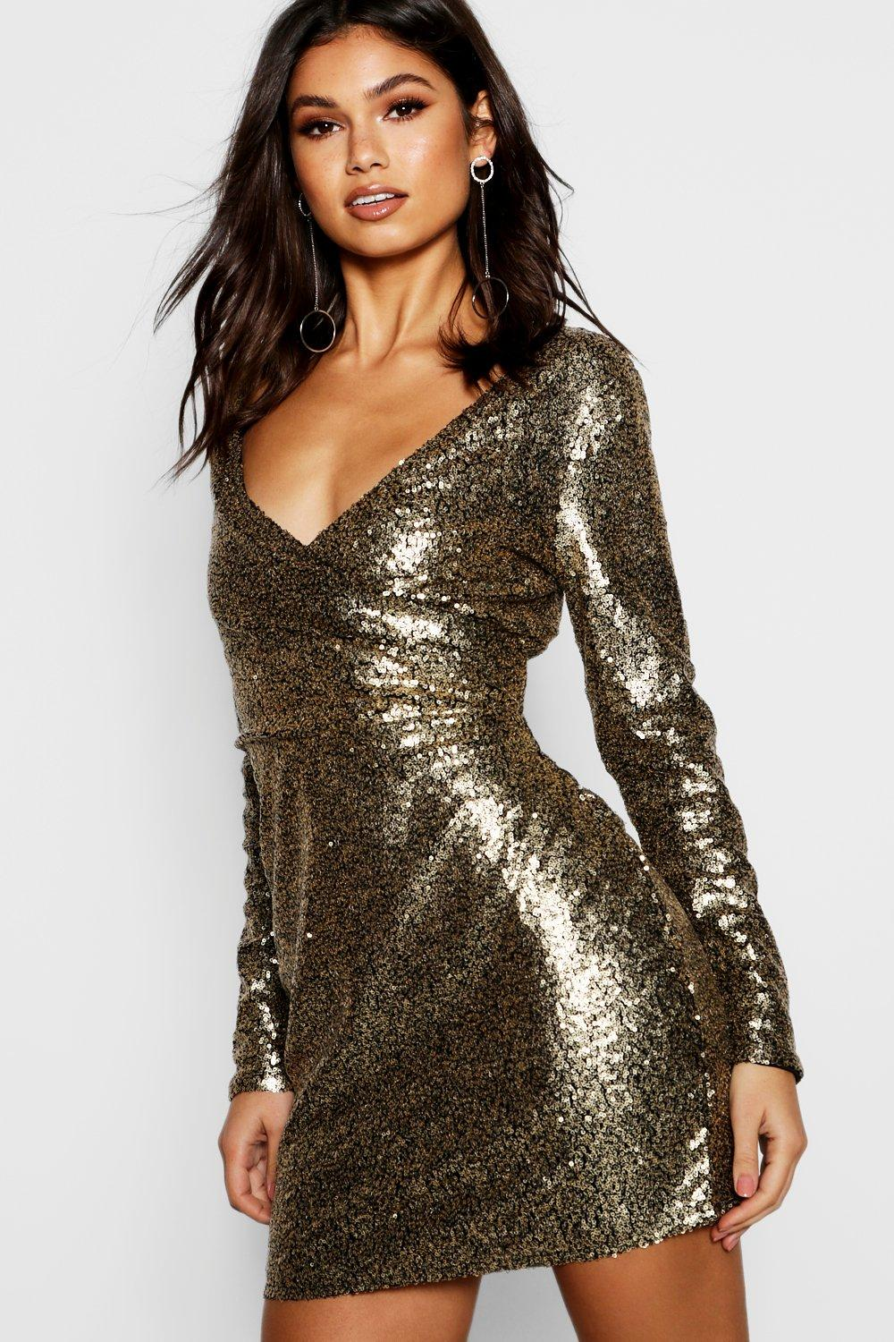 Boutique Anya All Over Sequin Bodycon Dress at boohoo.com
