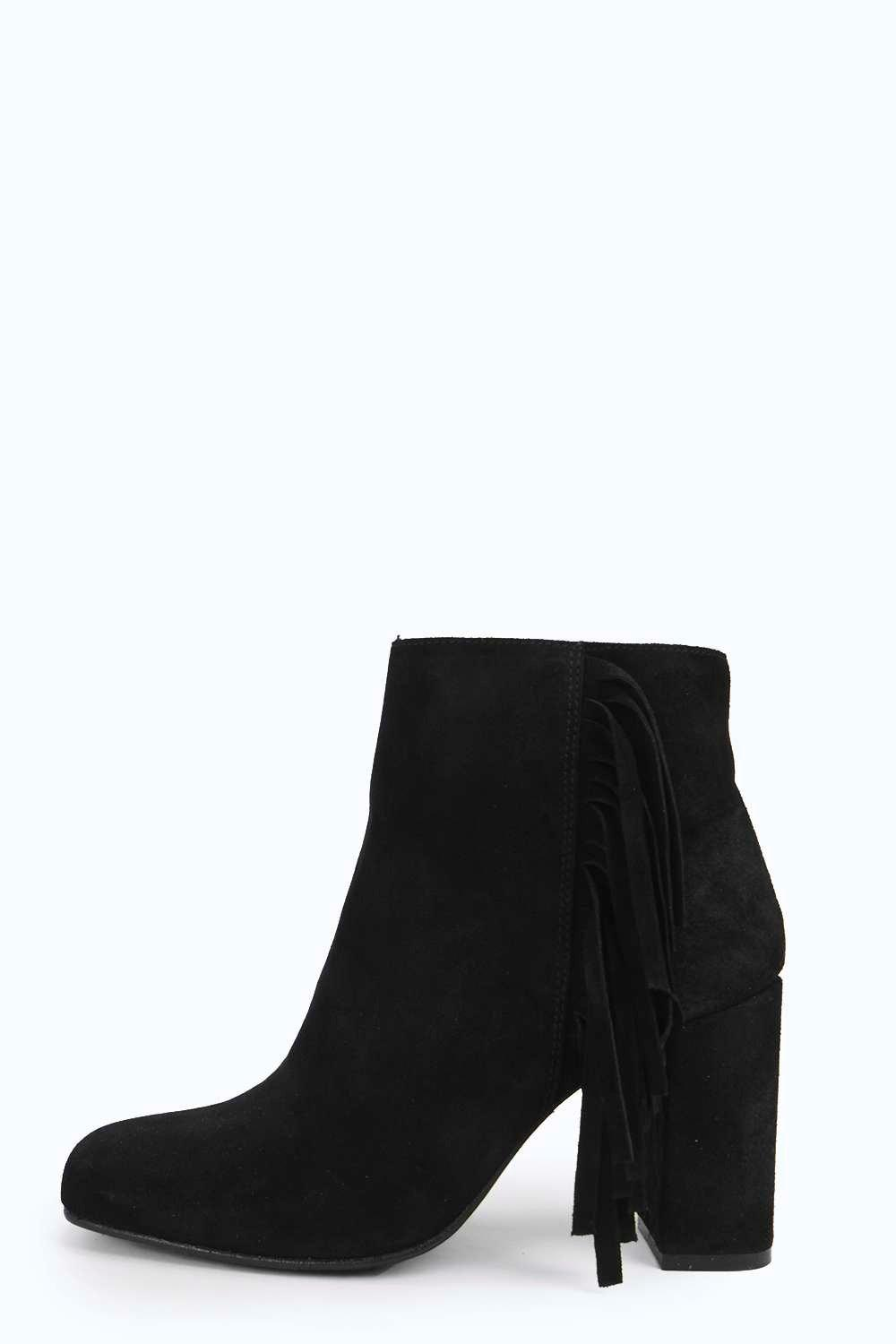 Boutique Leah Fringe Suede Boot