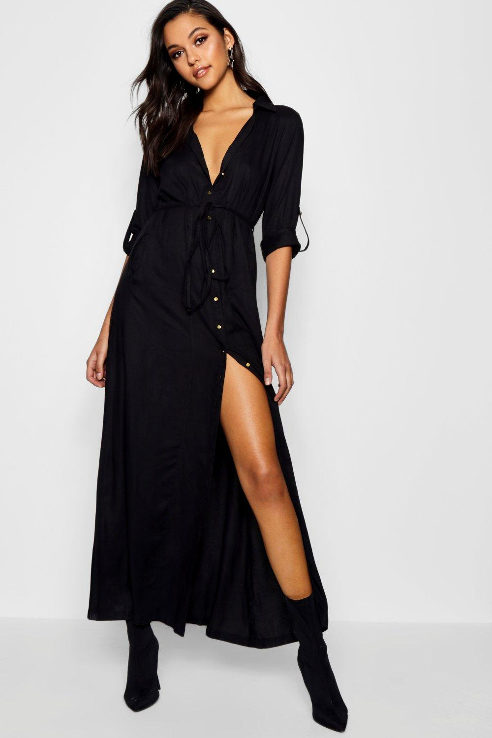 Grecian maxi dress with sleeves
