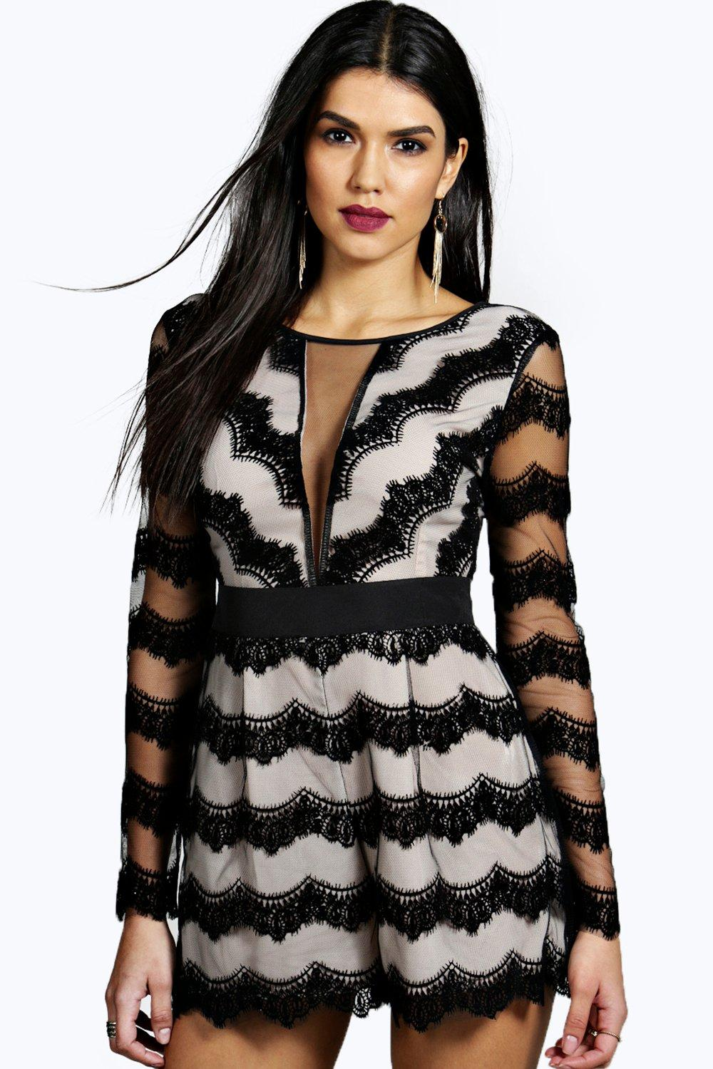 Cate Eyelash Lace Barely There Playsuit
