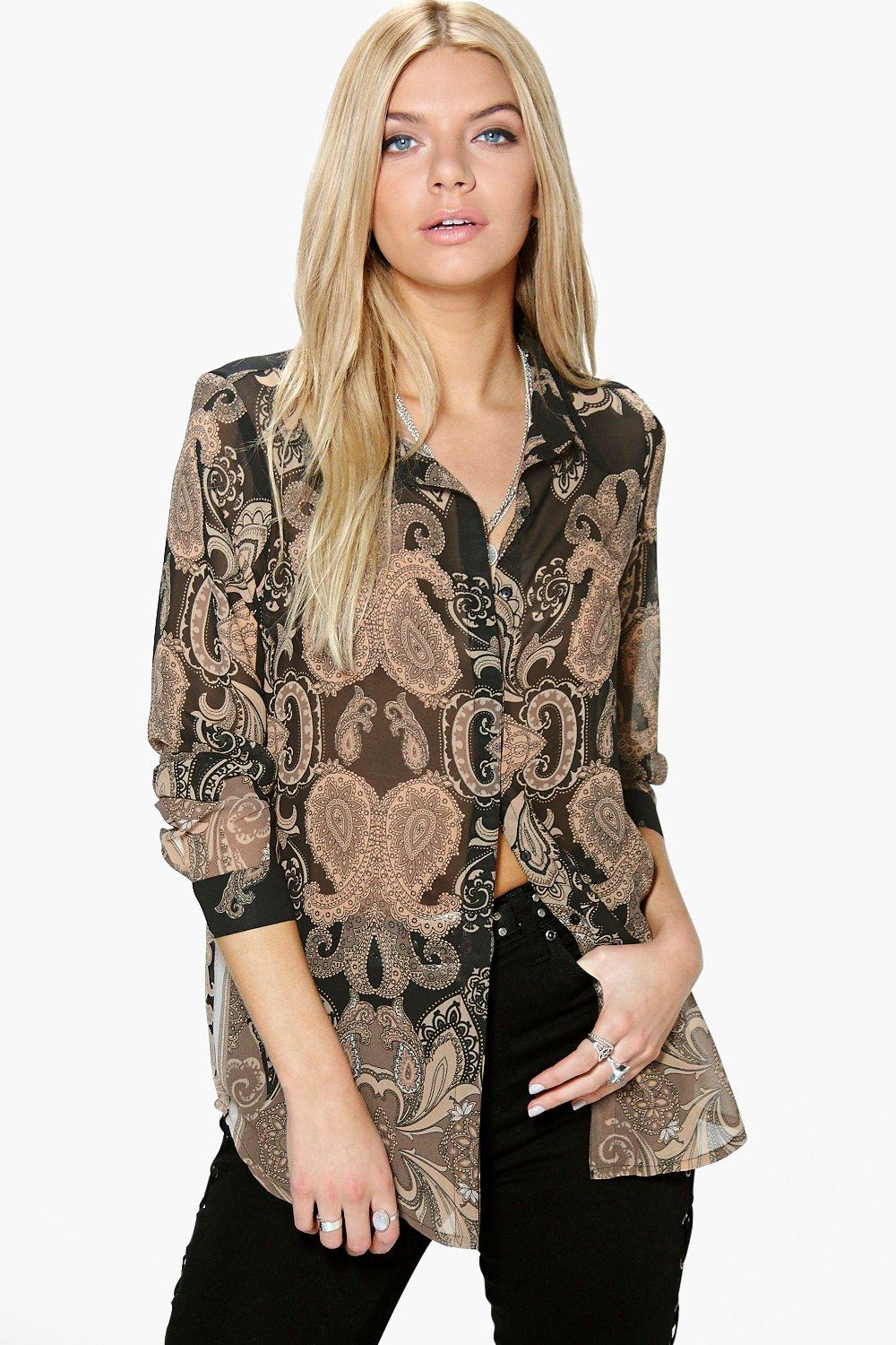 Collette Tonal Paisley Print Blouse