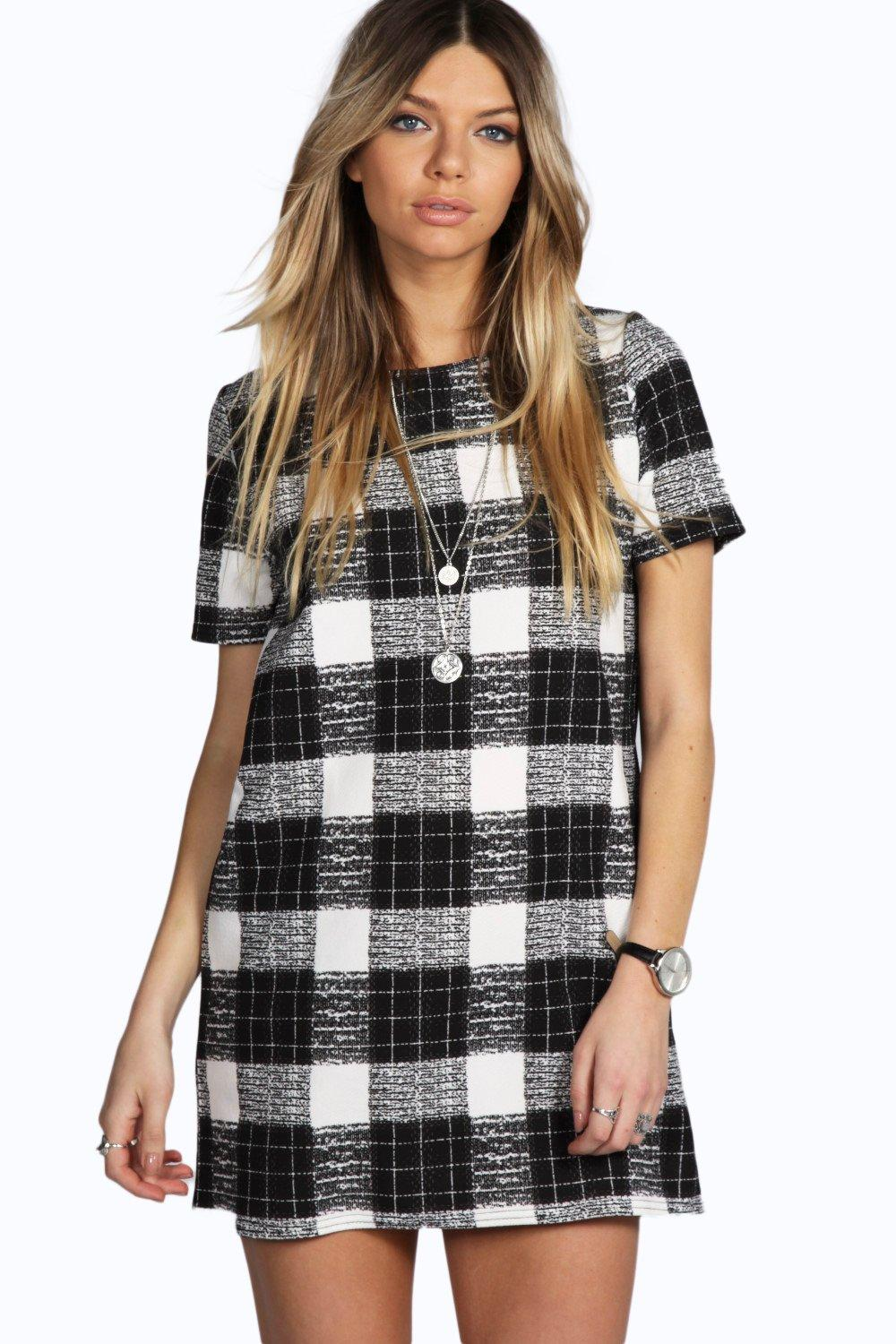 Margret Checked Shift Dress