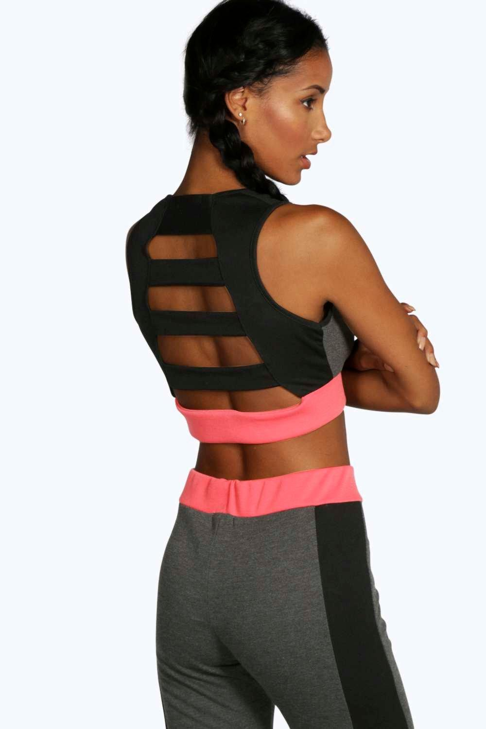 Niamh Fit Colour Block Sports Crop