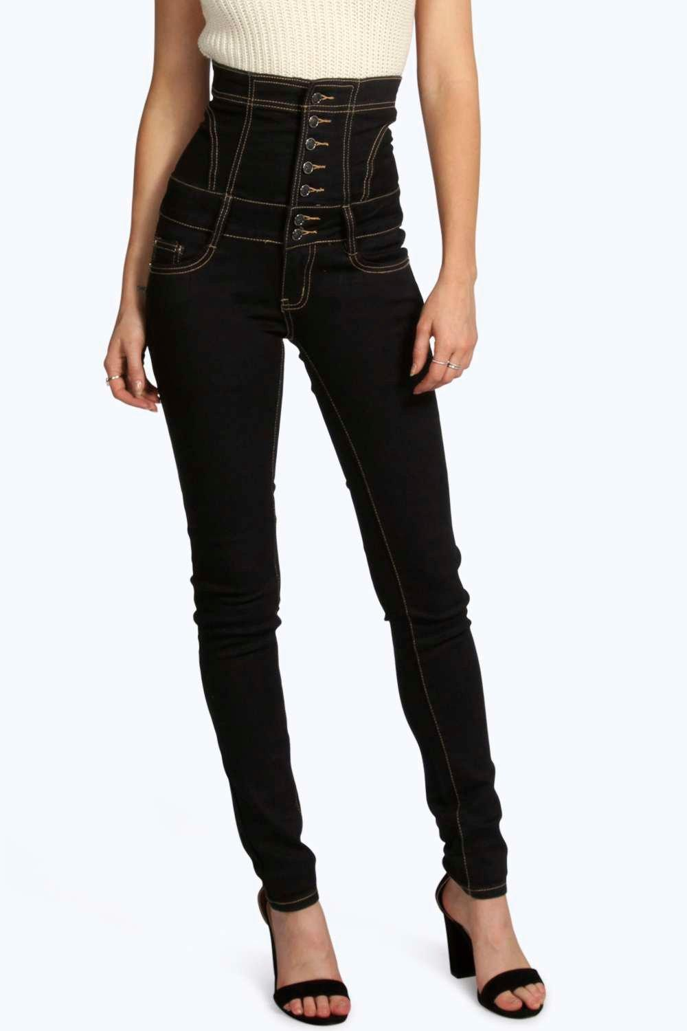 extra high waisted jeans - Jean Yu Beauty
