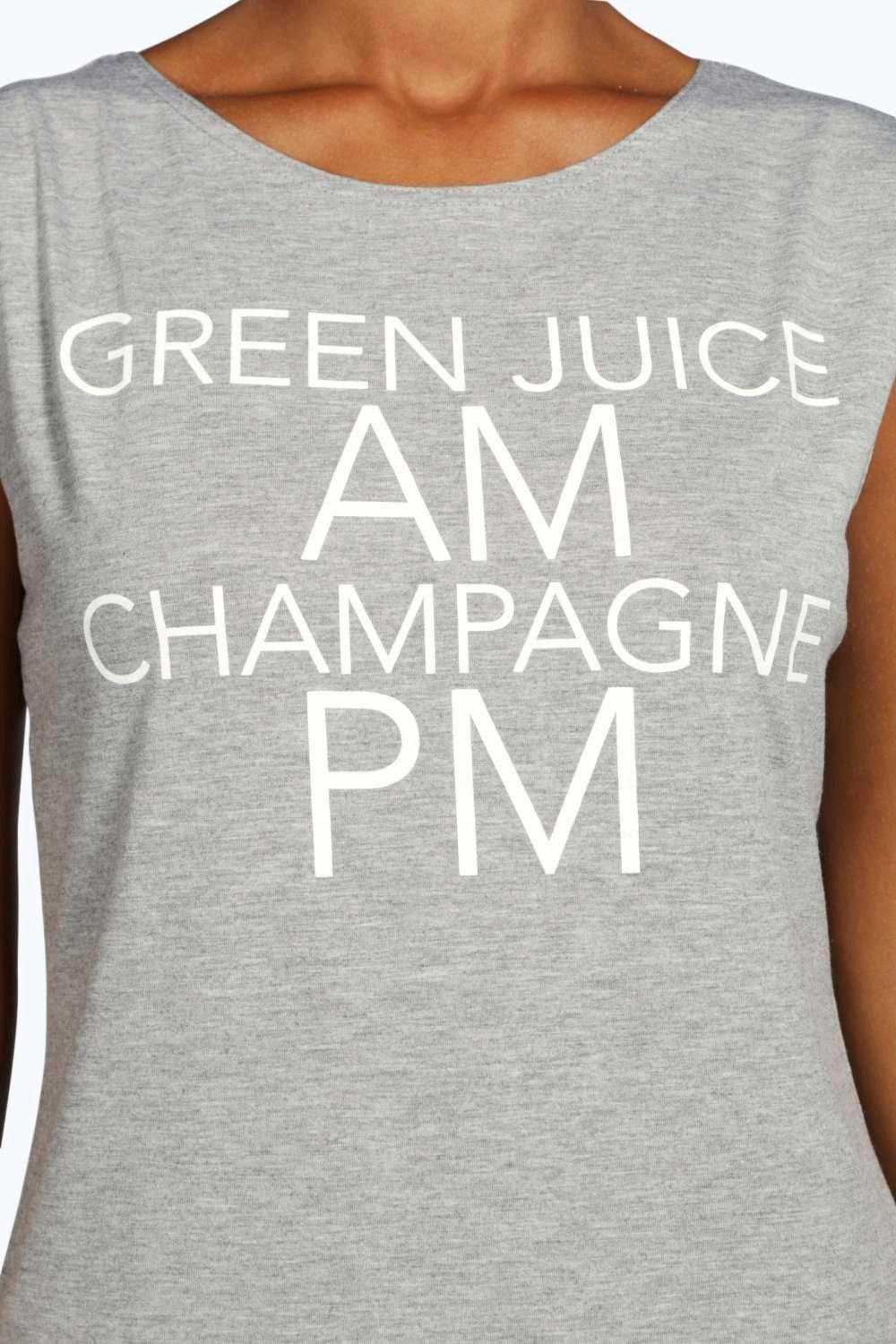 Amelie AM PM Slogan Vest
