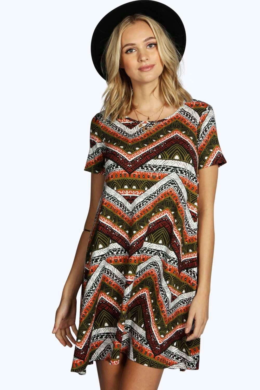 Tall Lilly Mixed Print Swing Dress