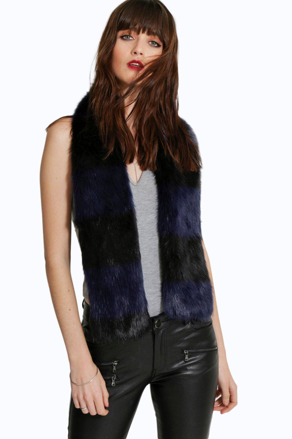 Isla Multi Colour Faux Fur Scarf