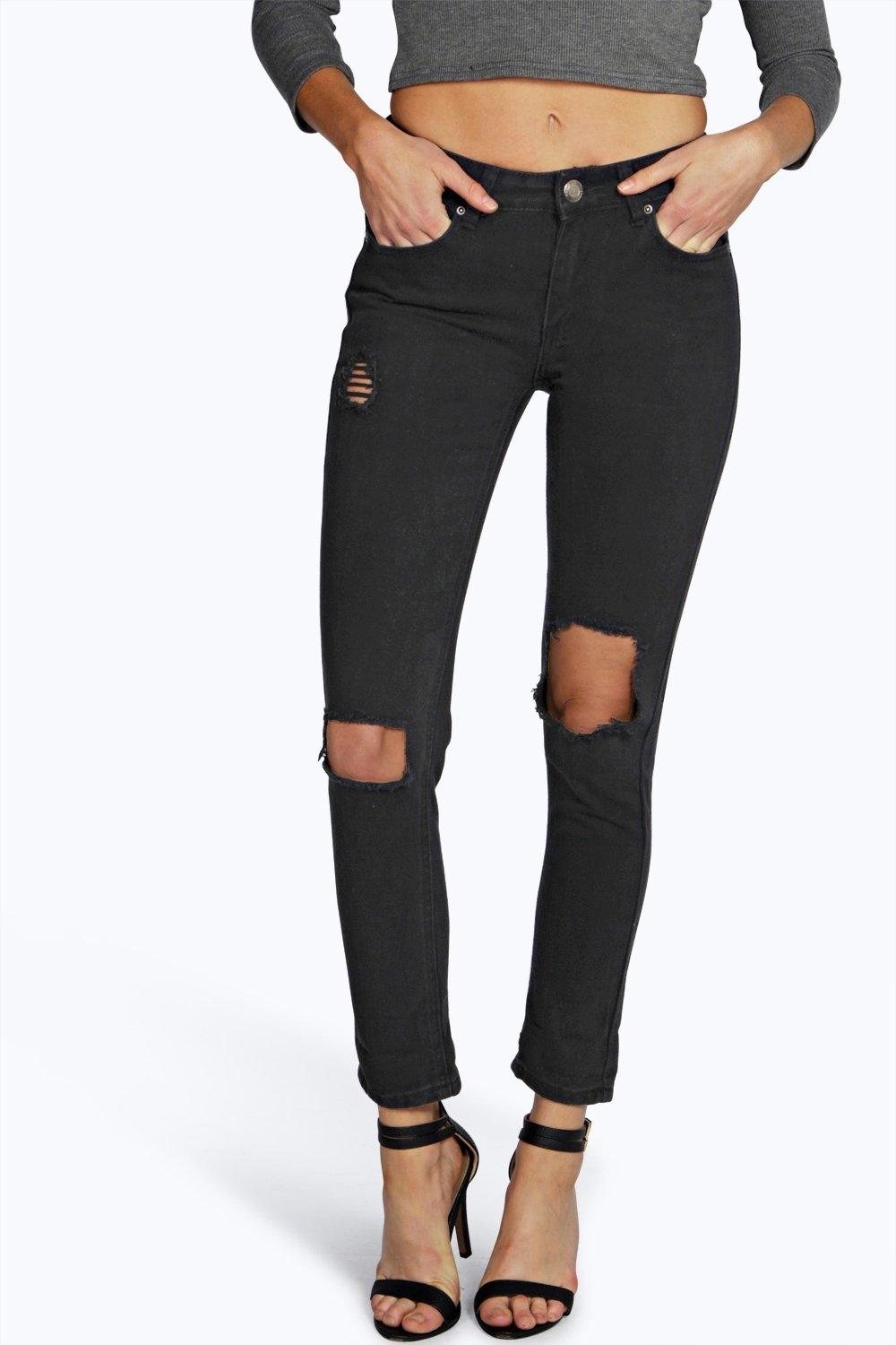 Jody High Waisted Distressed Mom Jeans