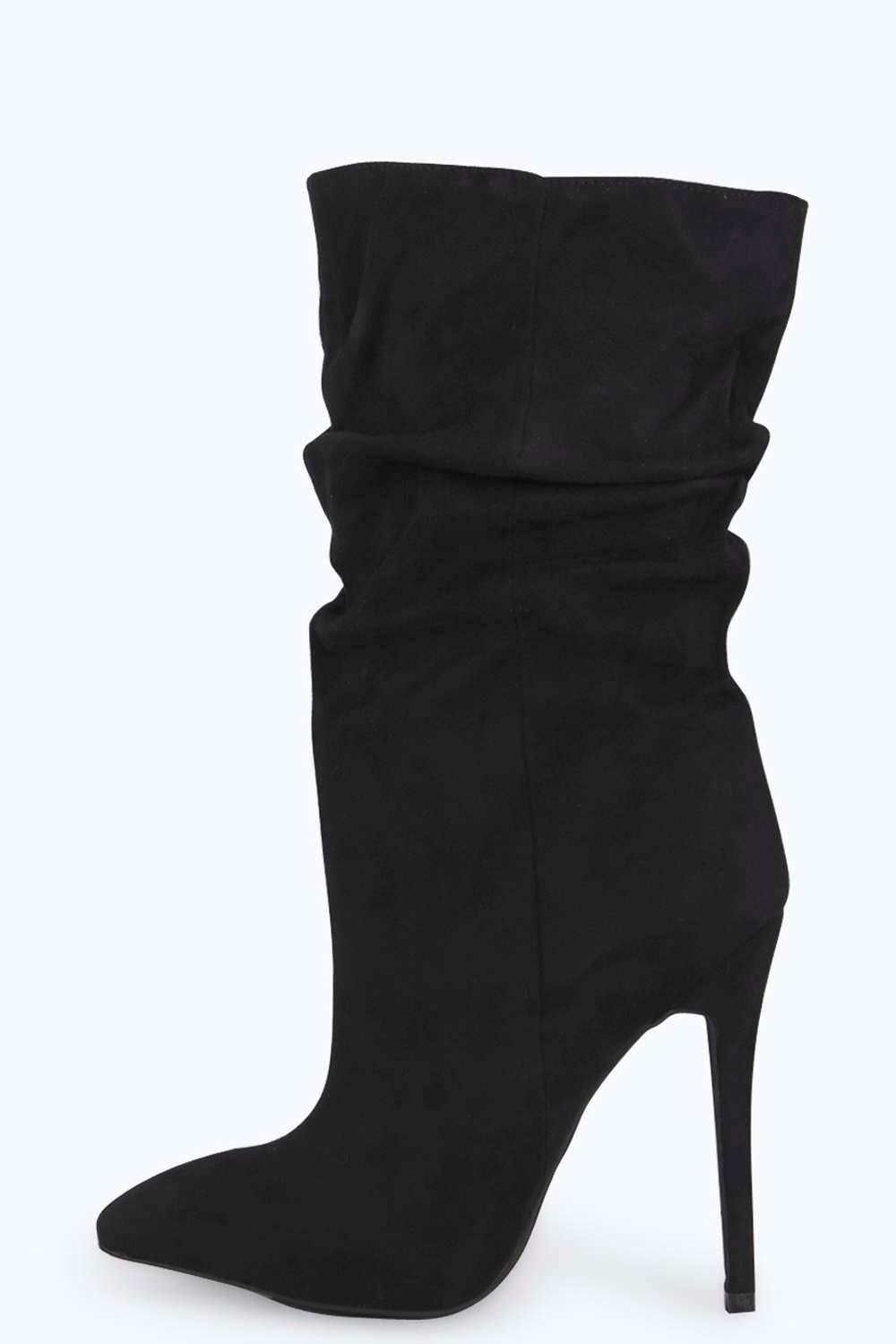 Rosie Calf High Ruched Boot
